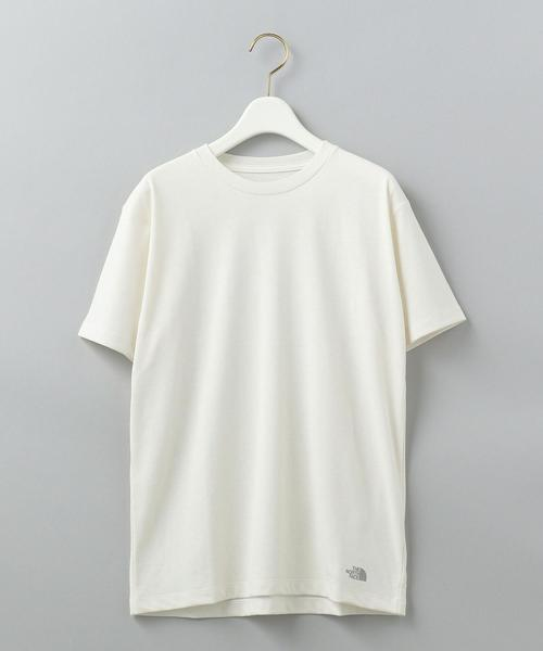 【WORK TRIP OUTFITS】[ザ・ノースフェイス]THE NORTH FACE  ショートスリーブ ヘムスモール ロゴ Tシャツ