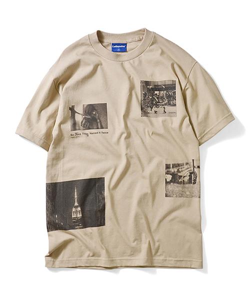 ラファイエット [Lafayette] × [SDJ NYC] コラボ ニューヨーク フォト 半袖 Tシャツ [SO NICE THEY NAMED IT TWICE TEE]