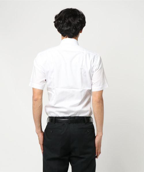 半袖シャツ コレクション 白ドビー パイピングBD