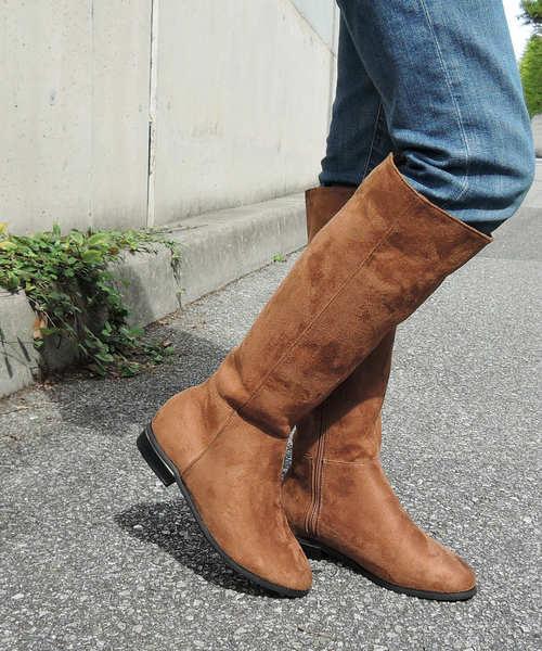 minia(ミニア)の「スエードロングブーツ [ minia ](ブーツ)」 キャメル