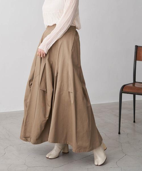 綿ボリュームロングスカート
