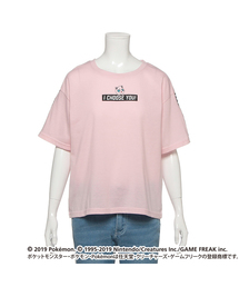 【ポケモン】ロゴ&サイドラインTシャツ(Tシャツ/カットソー)