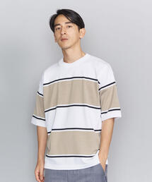BY ボールド ボーダー 樽型 ニット Tシャツ -MADE IN JAPAN-