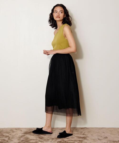 <AEWEN MATOPH(イウエン マトフ)>チュール ドット スカート