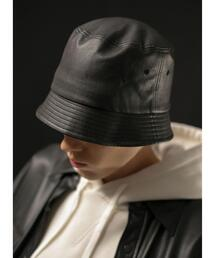 <monkey time> FAUX LTR BCKT HAT/バケットハット