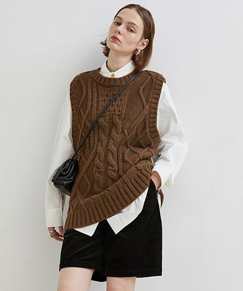 【Fano Studios】【2021SS】Cable knit vest FD20S033
