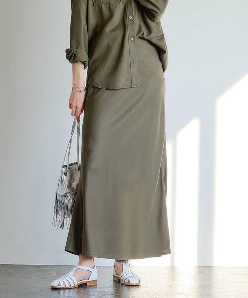 SC リヨセル ツイル ナロー スカート