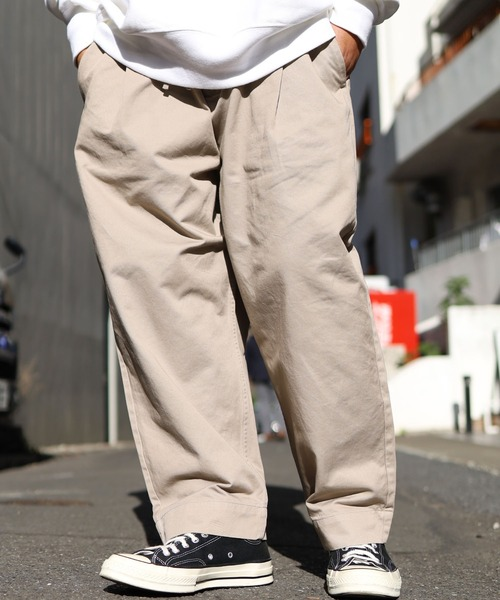 MADE IN STANDARD/メイドインスタンダード THICKEST CHINO WIDE PANTS