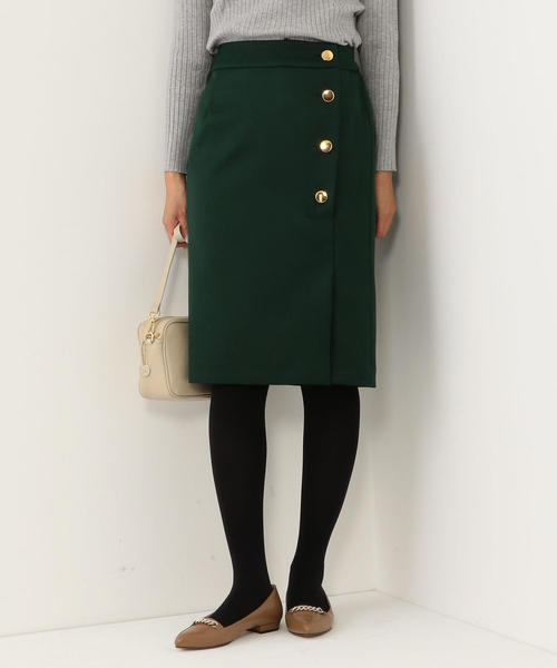 <closet story>サイドボタン タイトスカート