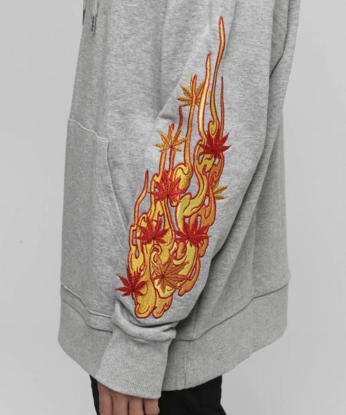 VANQUISH(ヴァンキッシュ)の「Fire Leaves プルオーバーパーカー(パーカー)」 詳細画像