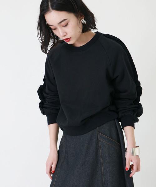 【&g'aime】袖フリルプルオーバー