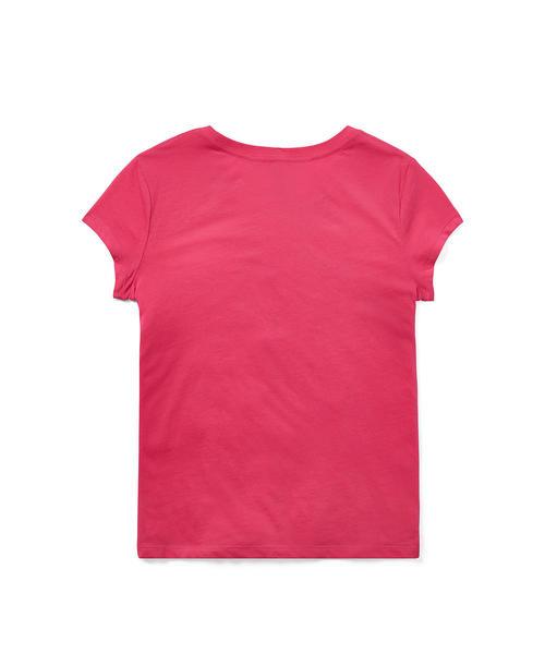 フローラル ポロ ジャージー Tシャツ