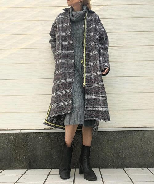 バーゲンで チェックコーディガン(ステンカラーコート)|Q(キュー)のファッション通販, ヤマモトグン:d5bc3284 --- skoda-tmn.ru