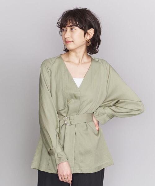 BY ツイルノーカラートレンチシャツ