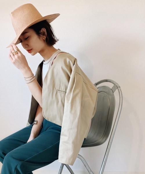 【tomoka×LHELBIEコラボ】リネンライクジャケット WEB限定