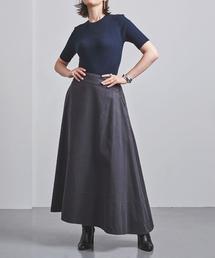 <MADISON BLUE(マディソンブルー)>バックサテン マキシ フレアスカート ■■■