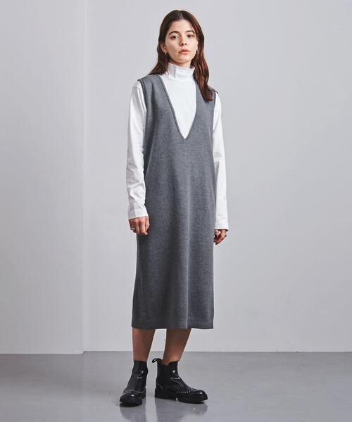 別注<SLOANE(スローン)>12G ミラノリブ ジャンパースカート