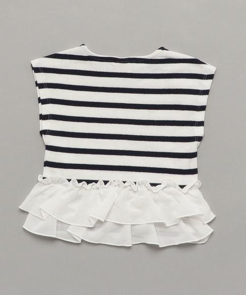 裾フリルノースリーブTシャツ