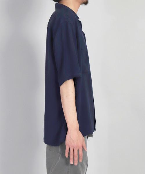 [OMNIGOD / オムニゴッド] レーヨンキュプラシルクエットショートスリーブボックスシャツ