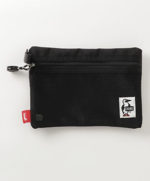 CHUMS(チャムス)の「Eco Flat Pouch S(A6)(ポーチ)」|ブラック