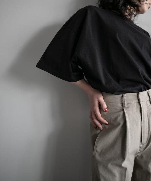 【chuclla】【2020/SS】organic cottion サイドスリットTシャツ chw1133