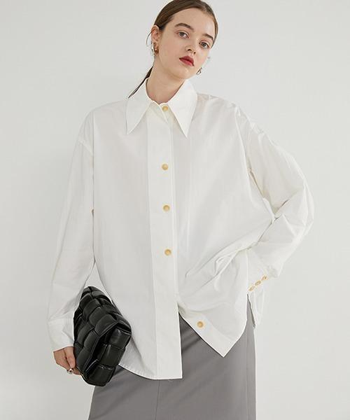 【Fano Studios】【2021SS】Big silhouette cotton shirt FD20S050