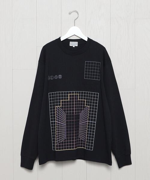 <C.E>GRID ZIGGURAT LONG SLEEVE T-SHIRT/Tシャツ.
