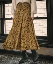 mysty woman(ミスティウーマン)のレースアップフレアスカート 855836(スカート)