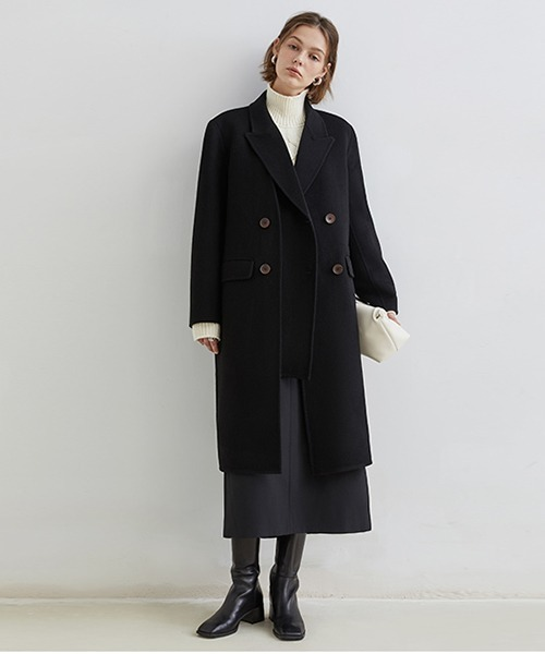 【Fano Studios】【2021AW】Double Breasted Layered Chester Coat FD20W047