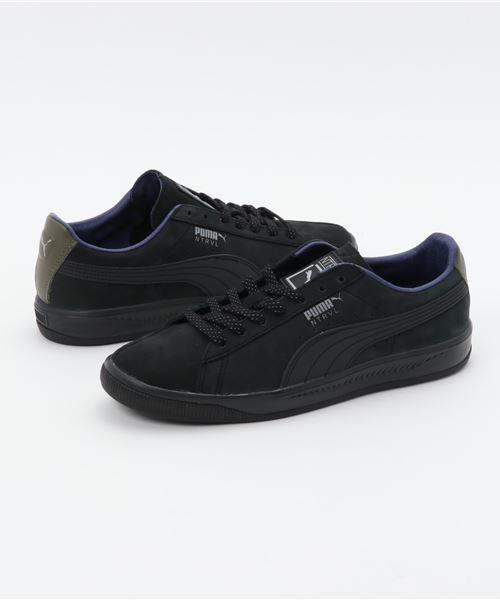 separation shoes 0846a a1236 PUMA プーマ SUEDE IGNITE STAPLE スエードイグナイトステイプル 364391 01BK/SILVER