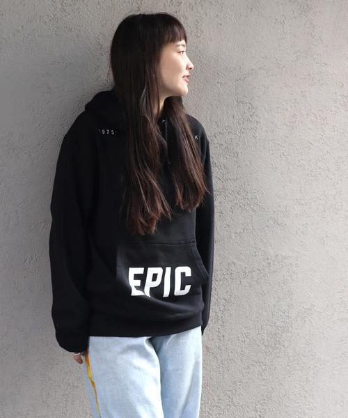 1975 tokyo 'EPIC'パーカー裏毛プルオーバー