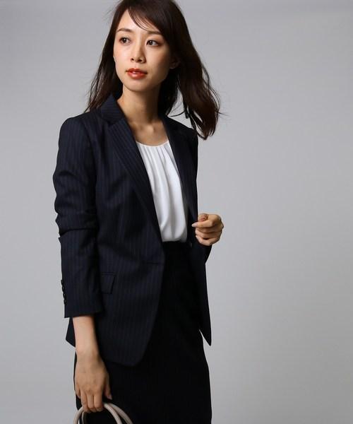 【日本限定モデル】 【セール】ウールストライプワンボタンジャケット(テーラードジャケット)|UNTITLED(アンタイトル)のファッション通販, 靴の広場 K's Direct:74039640 --- wiratourjogja.com