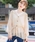 Heather(ヘザー)の「シフォンプリーツロングシャツ  852825(シャツ/ブラウス)」|アイボリー