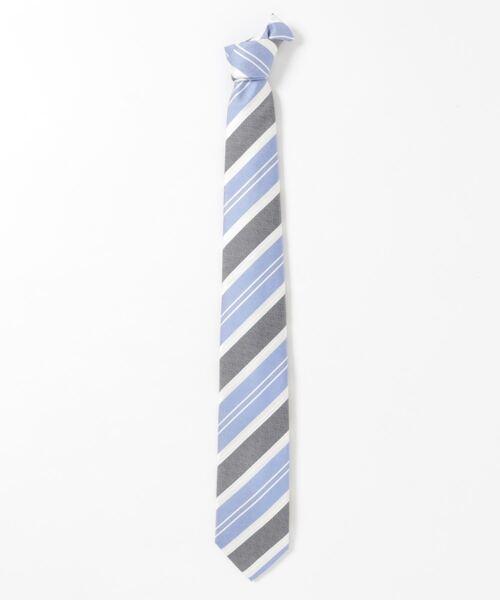 *アレキサンダージュリアン/ALEXANDER JULIAN 日本製 シルクストライプ柄 ネクタイ 8.0cm幅