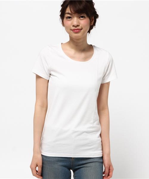 【UV99%CUT】REAL CUBE 極上素材コットンモダール半袖カットソー