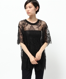 Chica(チカ)のChica/チカ/Lace T-Shirts(Tシャツ/カットソー)
