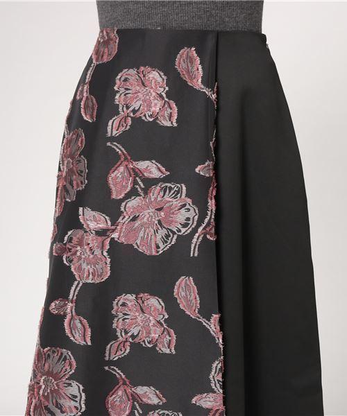 Droite lautreamont(ドロワットロートレアモン)の「ジャガードドッキングスカート(スカート)」 詳細画像