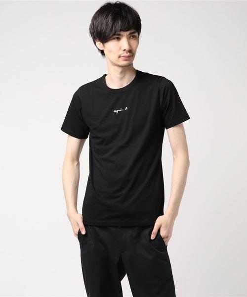 agnes b.(アニエスベー)の「【WEB限定】S179 TS ロゴTシャツ(Tシャツ/カットソー)」 ブラック