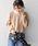 Khaju(カージュ)の「Khaju:バックスリットサーマルカットソー◇(Tシャツ/カットソー)」|ベージュ
