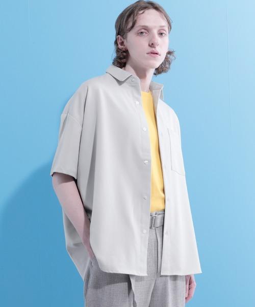 TRビッグシルエットレギュラーカラーオーバーシャツ 1/2 sleeve