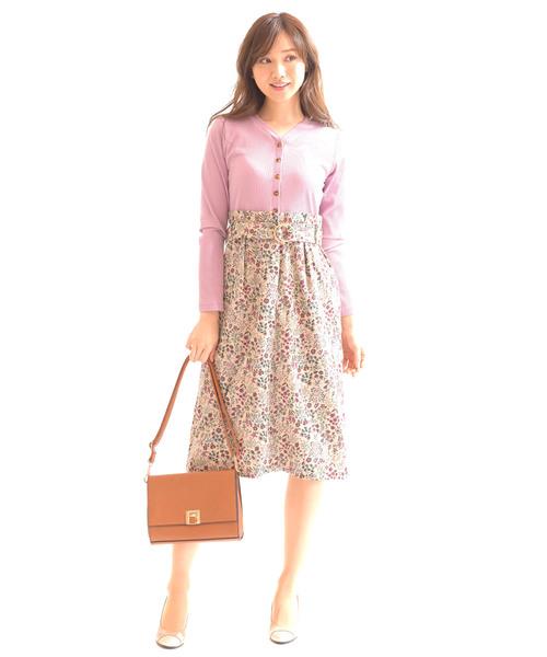 最高級のスーパー 小花柄コーデュロイ セットアップ風ワンピース(ワンピース) Princess|Dear Dear Princess(ディアプリンセス)のファッション通販, 西会津町:ce3f839d --- blog.buypower.ng