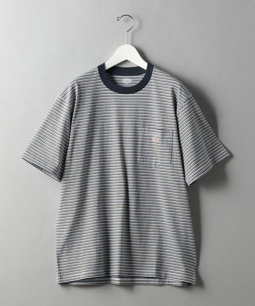 <DANTON (ダントン)> BORDER LOGO TEE/Tシャツ
