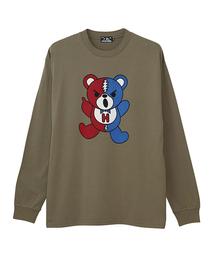 HG DEAD BEAR プリント リブ付Tシャツ