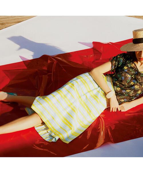 【EMMEL REFINES】SMF R/C マルチボーダースカート