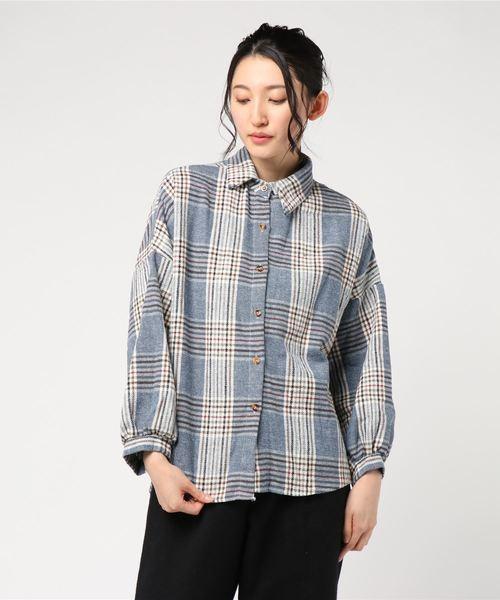 チェックドルマンBIGシャツ