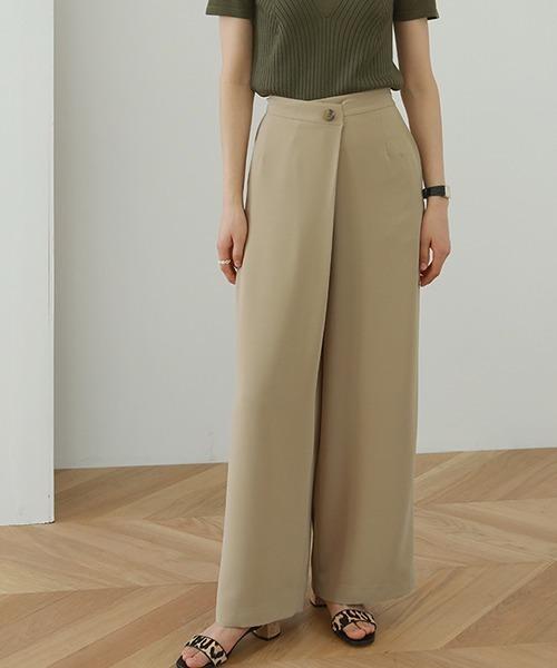 【chuclla】Georgette fabric wrap slacks sb-4 chw1240