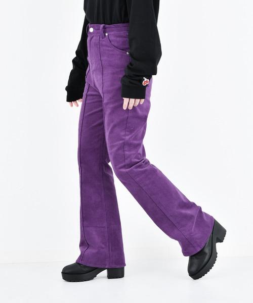 KIRSH(キルシー)の「【ZOZO限定】CORDUROY FLARE PANTS/コーデュロイフレアパンツ(その他パンツ)」|パープル
