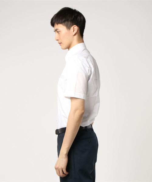 半袖シャツ コレクション 白ドビー テープ使い BD