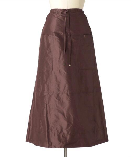Drawer シルクタフタギャザースカート