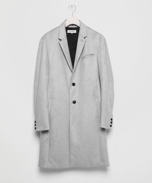 Narrow Similar Suede Chester Coat